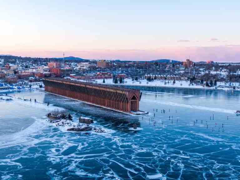 Marquette, MI Ore Dock Harbor Freeze (Photos)