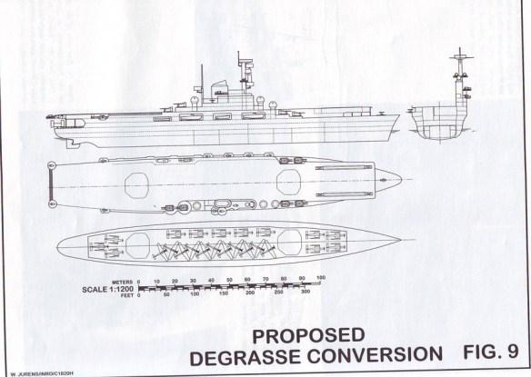 План конверсии французского крейсера Де Грасси