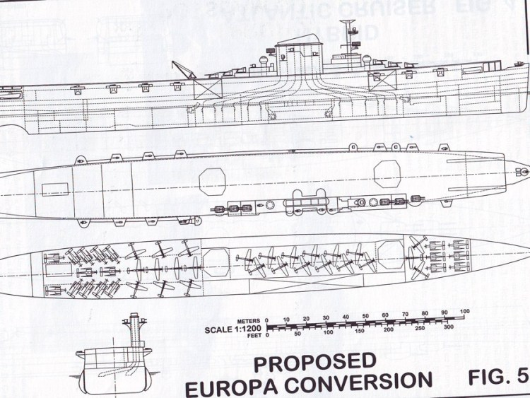 План конверсии лайнера Европа