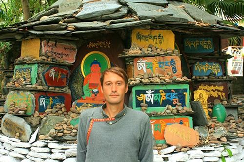 Буддистская ступа в Тибете