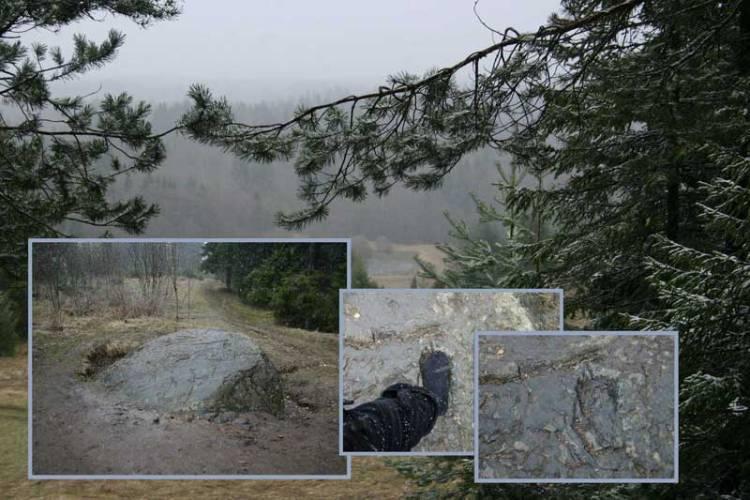 Камень на горе Маура. культовые камни