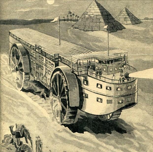 Гиганский ретро транспорт. Футуристический проект XX века
