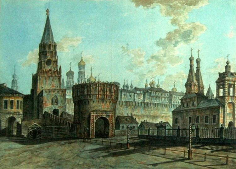 Троицкая и Кутафья башни Московского Кремля