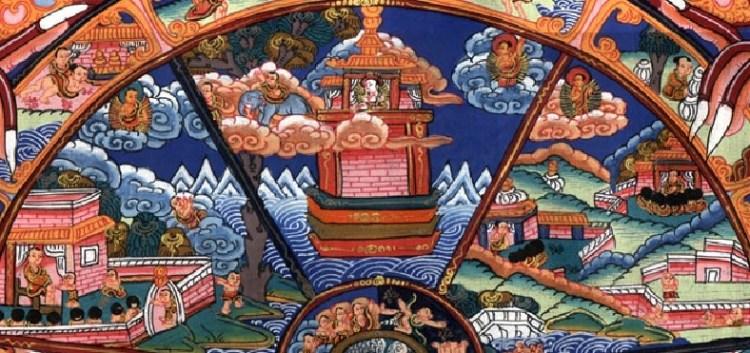 Тибетская тханка Рай