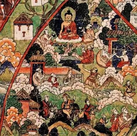 Тибетская тханка человеческий мир