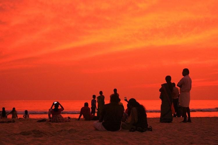 Керала - это настоящая индийская сказка. Лучше чем Гоа. Закат в Варкале