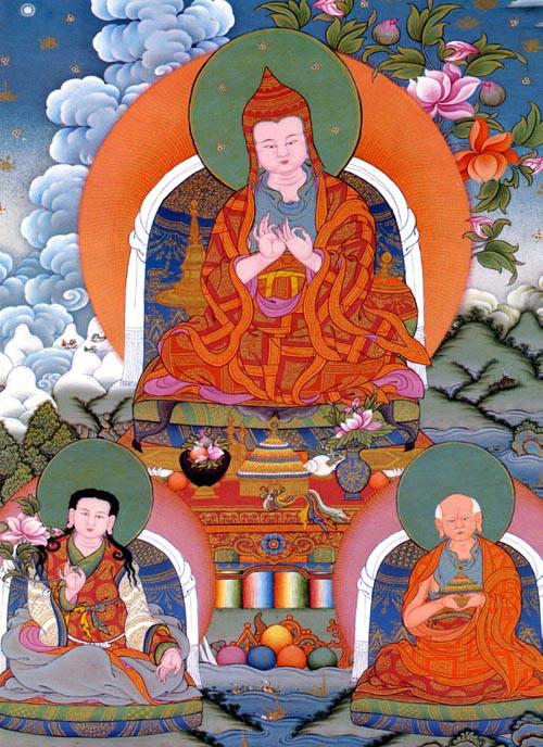 """Атиша (санскр. Atiśa, тиб. a ti sha, phul byung – """"Совершенный"""") – великий буддийский учитель XI века (982–1054гг), основатель тибетской школы Кадампа"""