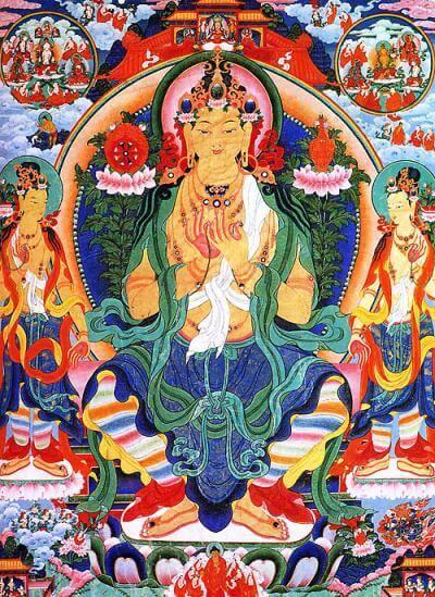 Майтре́я — у исповедующих буддизм народностей самое почитаемое лицо, грядущий Учитель человечества, «Владыка, наречённый Состраданием», бодхисаттва и будда нового мира, золотой эпохи в буддизме или сатья-юги; единственный бодхисаттва.