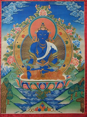 Согласно этому сочинению, некий монах дал обет практиковать Дхарму в Восточном мире, не испытывая злобы или гнева ни к одному живому существу, пока не достиг полного пробуждения. Он при этом оставался неподвижным, и стал в результате буддой Акшобхьей.
