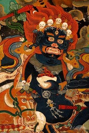 Палден Лхамо — в тибетском буддизме: гневное женское божество, одна из 8 основных дхармапал. Является гневной формой богини Сарасвати. В тибетской мифологии сближается с Кали.