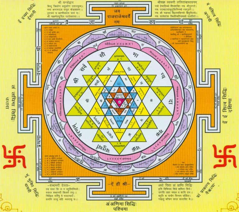 Шри янтра древнейший инструмент развития сознания