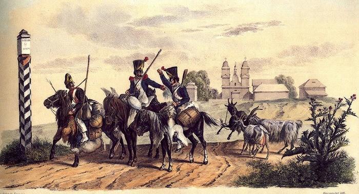 """Добыча пропитания французскими солдатами. """"Около Козушина"""", 11 июля 1812 г.l"""