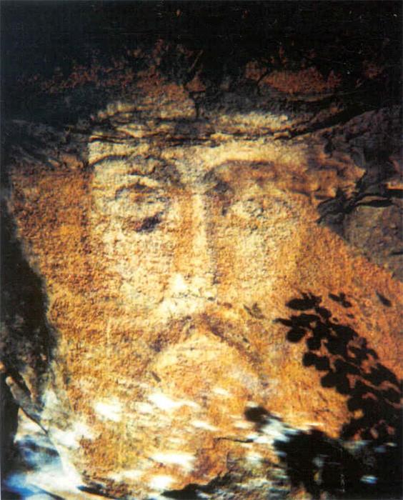 Лик Иисуса Христа в посёлке Архыз