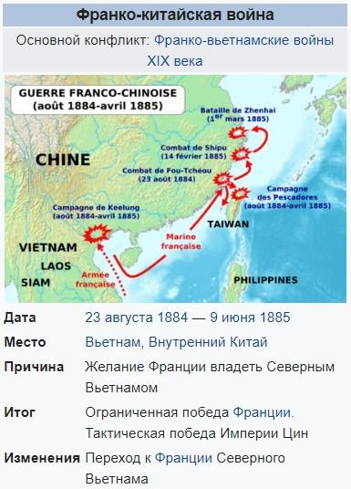 Война Франции и Китая. Сражение броненосцев с джонками