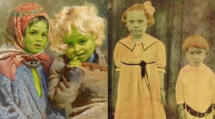 Зеленые дети из Вулпита. Мифические существа