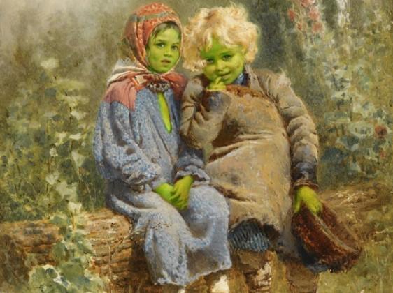 зеленые детишки