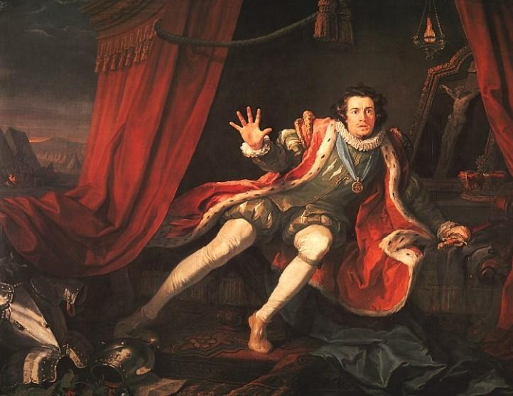 Дэвид Гаррик в роли Ричарда III.1745
