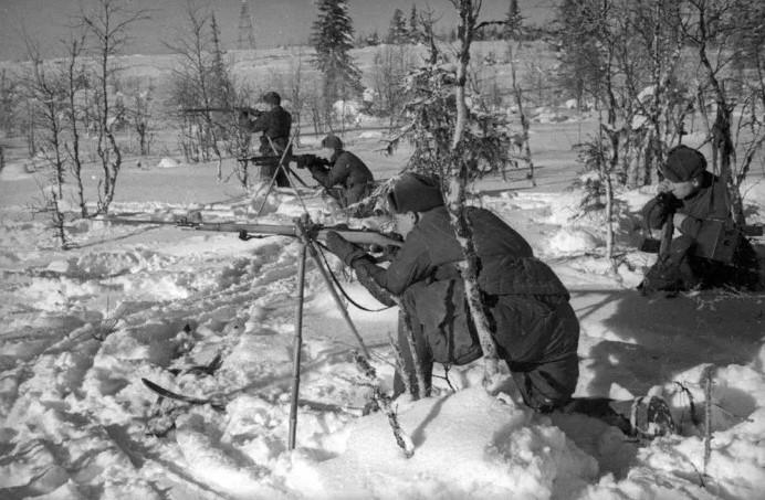 позиции советских войск финская война
