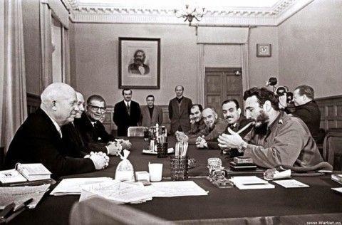 Хрущев и Кастро прием дорогих гостей