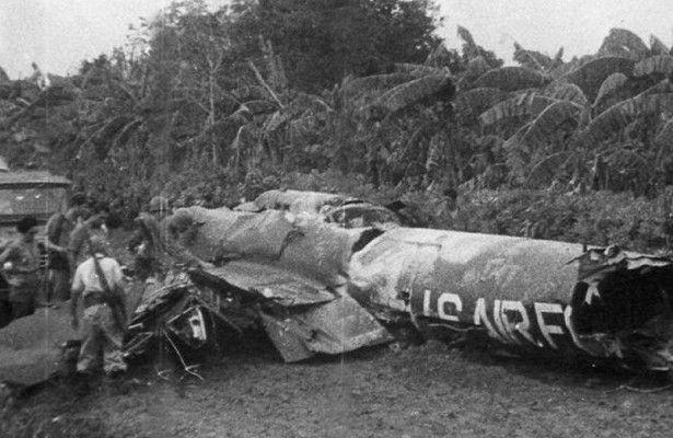 Сбитый самолет разведчик над Кубой