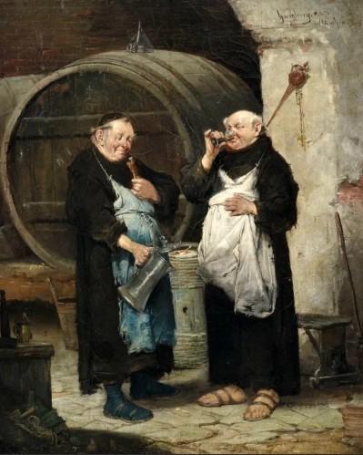 монахи пили пиво