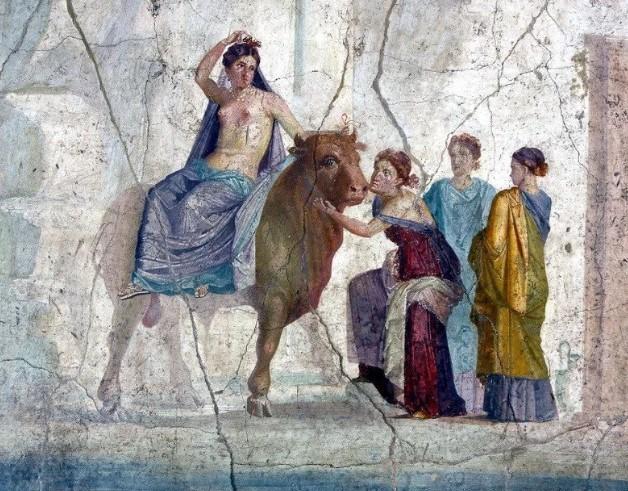 Во многих домах Помпей сохранились фрески
