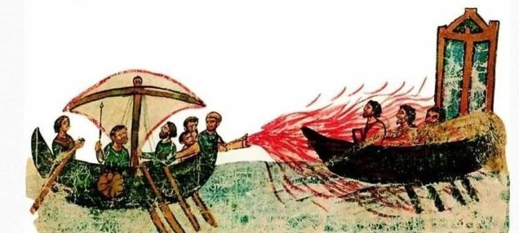 греческий огонь в древности