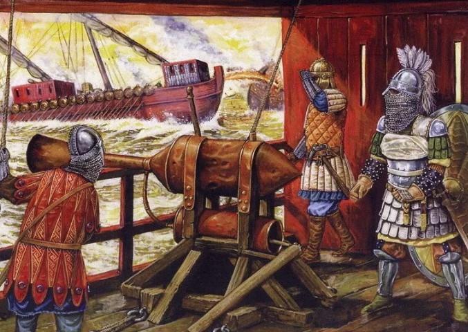 огнемет средневековья