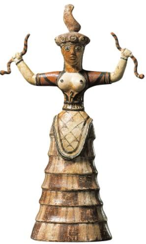 МИНОЙСКИЕ БОГИНИ СО ЗМЕЯМИ. Загадочные статуи