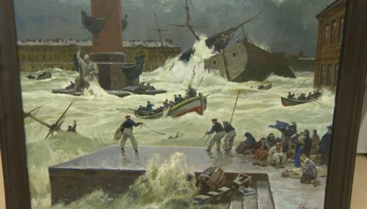 Наводнение Нева 1824. Река Бурлила и Ревела