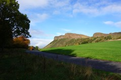Salisbury Crags next to Arthurs Seat