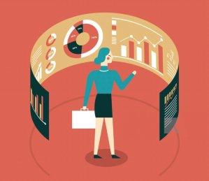 BusinessWoman w Data