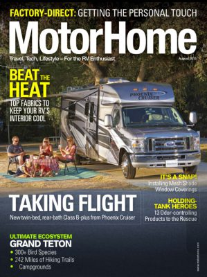 EZ Snap Feature in Motorhome Magazine