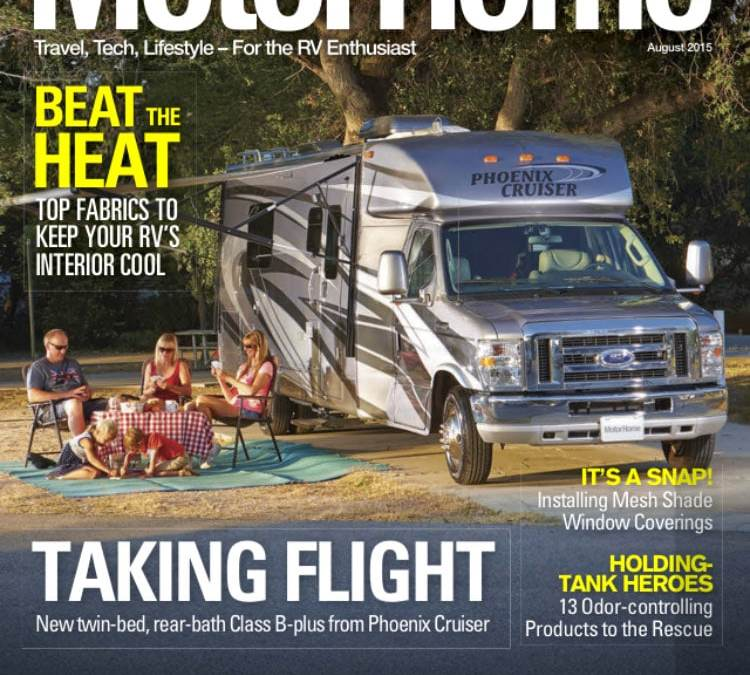 EZ Snap RV Shades featured in article in MotorHome Magazine