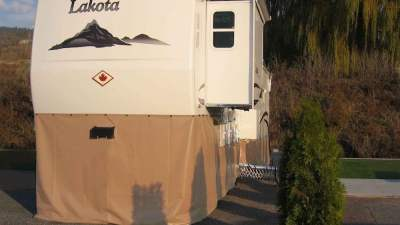 EZ Snap RV Skirting 5th Wheel Beige