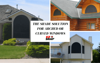 Blinds and shades for arched or curved windows