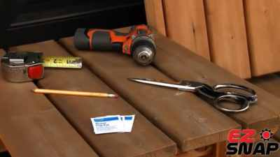 Tools needed to install EZ Snap RV Skirting