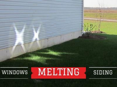 Windows Melting Vinyl Siding