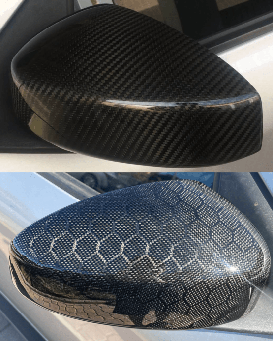 G35 Coupe Carbon Fiber : Honeycomb side mirror covers