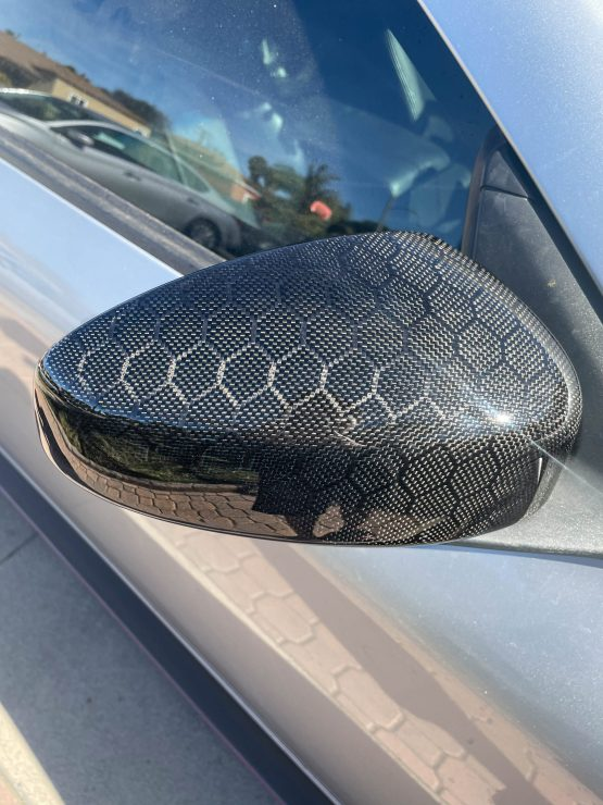 G35 Coupe Honeycomb side mirror covers