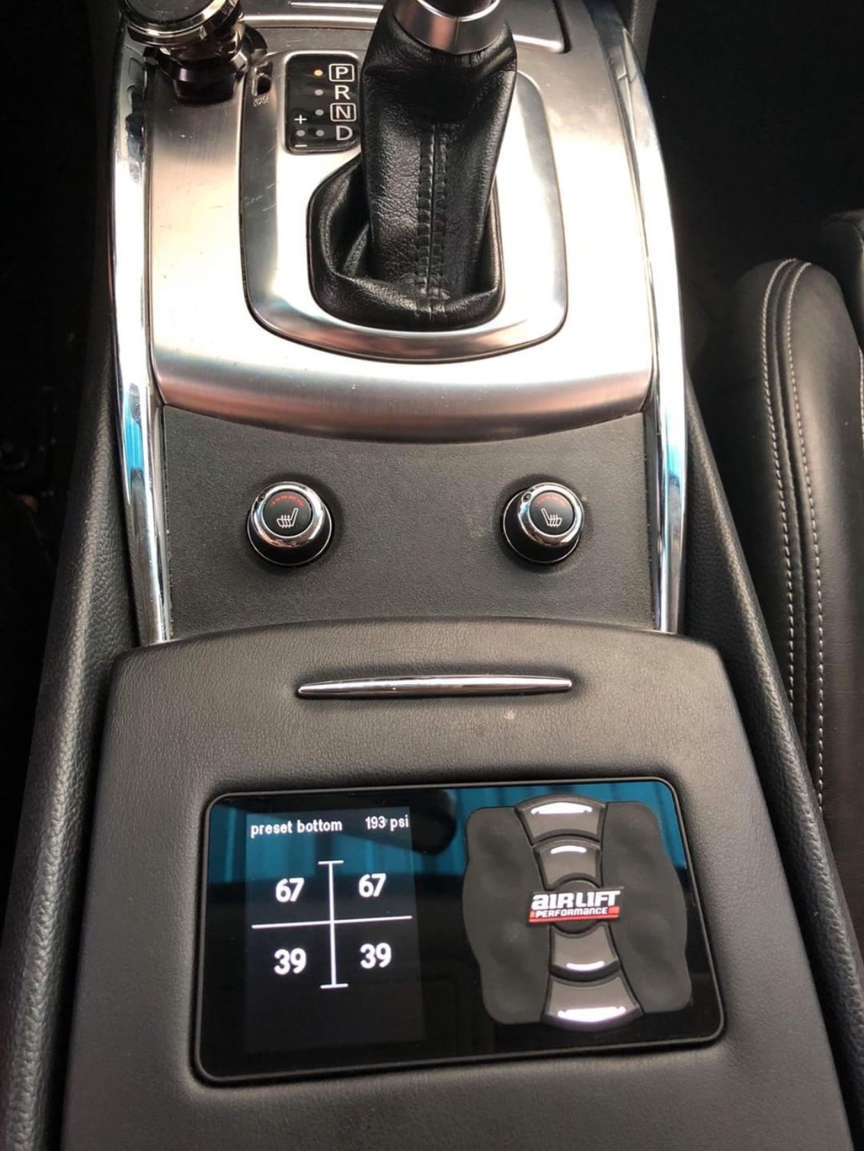 G37 AirLift Control set up – cup holder (coupes & sedans)