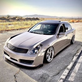 G35 Sedan front splitter for Nismo bumper