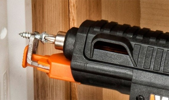 Use grip to hold screw