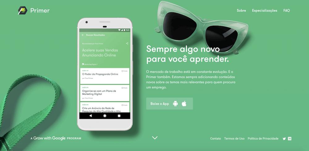Google Primer ensina sobre negócios