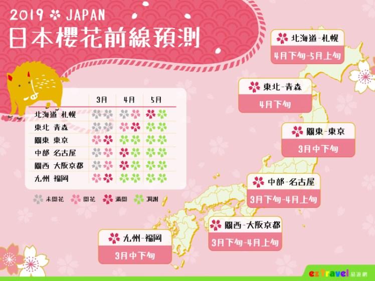 01【易遊網】2019日本櫻花前線預測