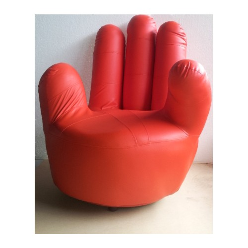 Pu Leather Size Swivel Hand Chair Finger Sofa 1 Seat Couch Lounge Red