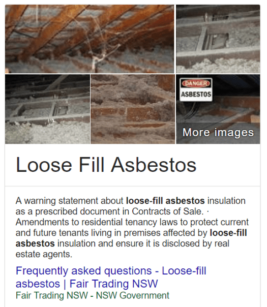 Loose fill asbestos insulation NSW state government free testing voluntary purchase and demolition program property value in Newcastle