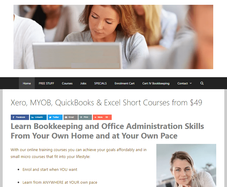 Accounting & Office Administration Website, Customer List and Digital Assets for Sale - earn money as a tutor, bookkeeper or accounts person from home