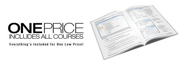 One price for all Microsoft Excel courses image with Excel workbook