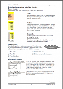 Microsoft Excel Beginners Course 302 Workbook Screen Shot